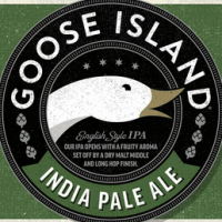 Goose Island IPA label