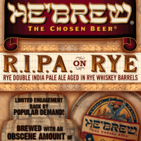 He'Brew R.I.P.A. on Rye Double IPA Aged in Rye Whiskey Barrels