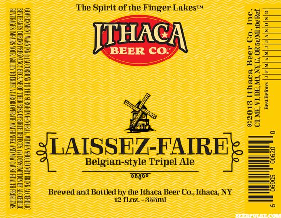 Ithaca Laissez-Faire Belgian Tripel