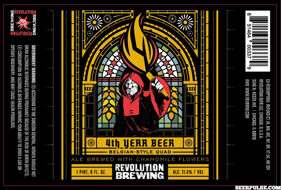 Revolution 4th Year Beer Belgian Quad