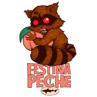 dogfish head festina peche label