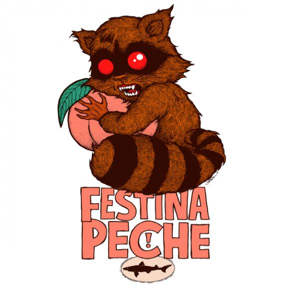 dogfish head festina peche label