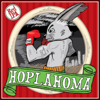 Mustang Hoplahoma Red IPA label
