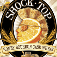 Shock Top Honey Bourbon Cask Wheat label
