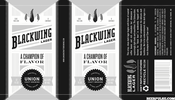 Union craft brewing completes expansion blackwing lager for Union craft brewing baltimore md
