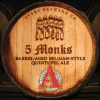 Avery 5 Monks Bourbon Barrel-Aged Belgian Quintupel
