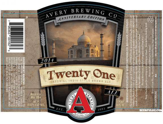 Avery Twenty One Imperial India Brown Ale