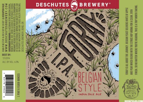 Deschutes Foray Belgian IPA label