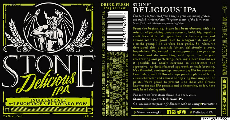 Stone's gluten-reduced Delicious IPA now available coast-to-coast