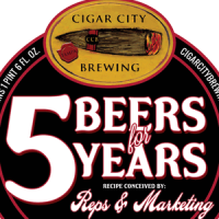 Cigar City 5 Beers for 5 Years Imperial Oatmeal Cream Porter