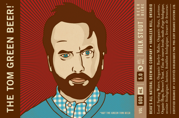 The Tom Green Beer! label