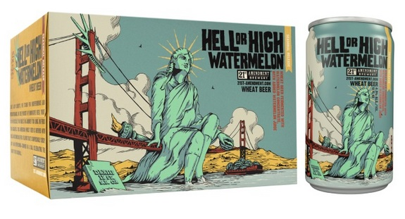 21st amendment hell or high watermelon pack