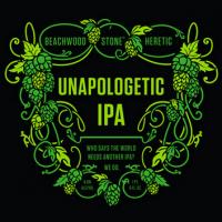 beachwood heretic stone unapologetic ipa label
