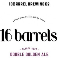 10 Barrel 16 Barrels Pinot Noir Barrel Aged Double Golden Ale