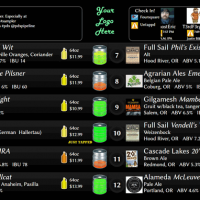 Digital Pour Beer Dashboard pic