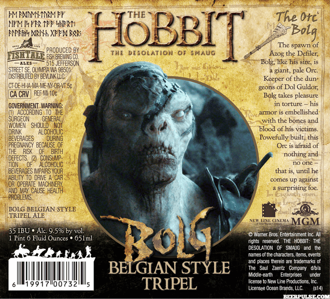 The Hobbit Bolg Belgian Tripel