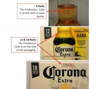 corona extra recall codes