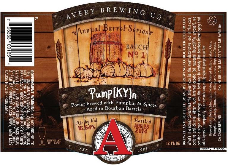 Avery Pump[KY]n Bourbon Barrel Aged Imperial Pumpkin Porter