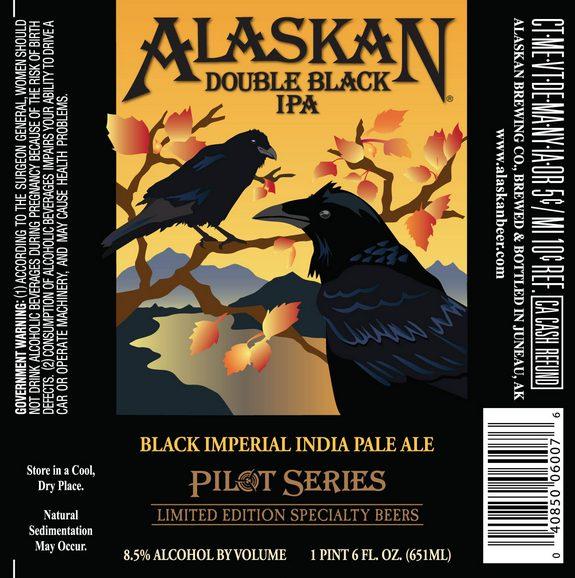 Alaskan Double Black IPA label