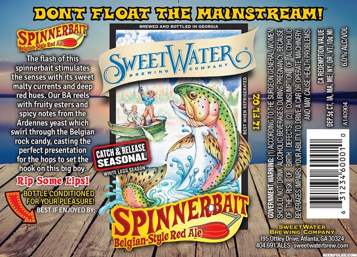 SweetWater Spinnerbait Belgian Red Ale label