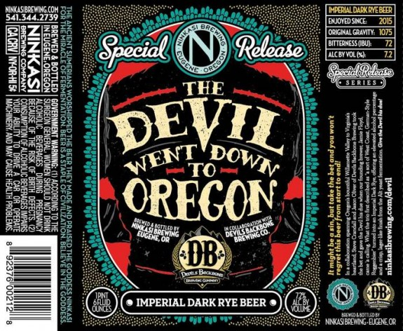 Ninkasi The Devil Went Down to Oregon Imperial Dark Rye 22oz label BeerPulse