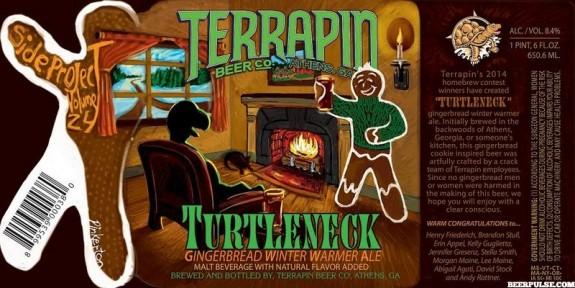 Terrapin Turtleneck Gingerbread Winter Warmer label BeerPulse