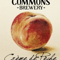 The Commons Crème de Pêche label BeerPulse