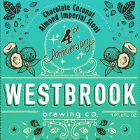 Westbrook 4th Anniversary Chocolate Coconut Almond Imperial Stout label BeerPulse