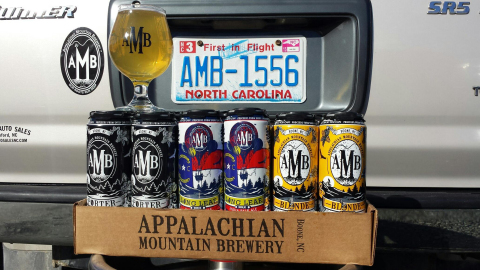 Appalachian Mountain Brewery cans