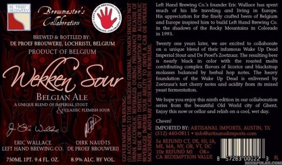 De Proef Left Hand Wekken Sour label BeerPulse Liquorscan