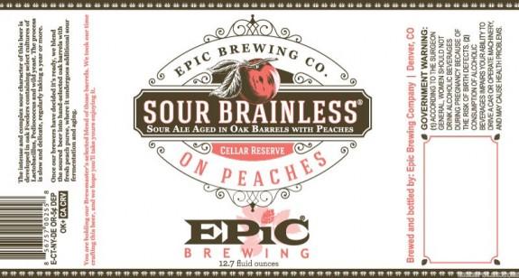 Epic Sour Brainless on Peaches Sour Ale label BeerPulse