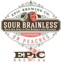 Epic Sour Brainless on Peaches Sour Ale label BeerPulse