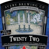 Avery Twenty Two Dry-Hopped Wild Ale label BeerPulse