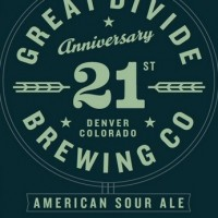 Great Divide 21st Anniversary American Sour Ale label BeerPulse