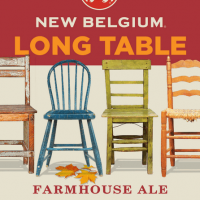 New Belgium Long Table Farmhouse Ale label BeerPulse