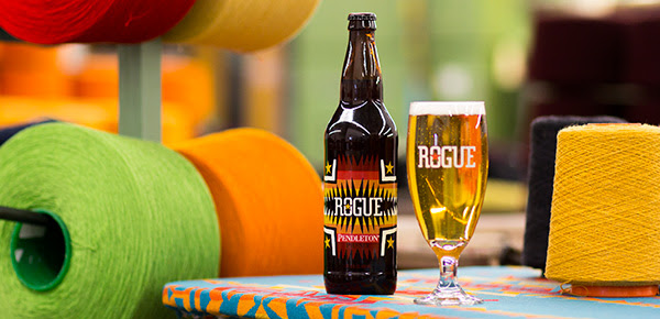 Rogue Pendleton bottle and glass BeerPulse