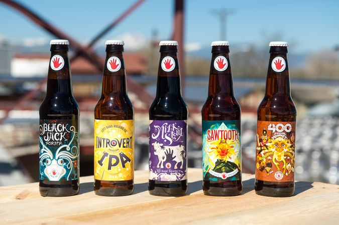 left hand brewing bottle lineup