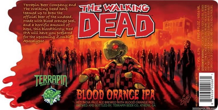 The Walking Dead label BeerPulse
