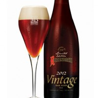 Rodenbach Vintage 2012 with glass
