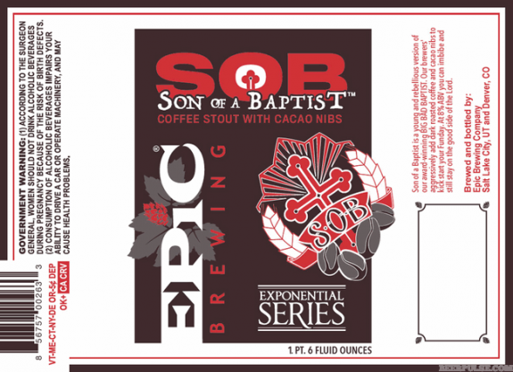 Epic Son of a Baptist label BeerPulse web