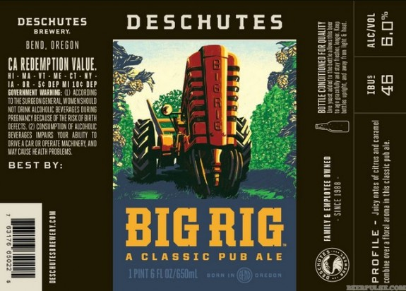 Deschutes Big Rig label BeerPulse