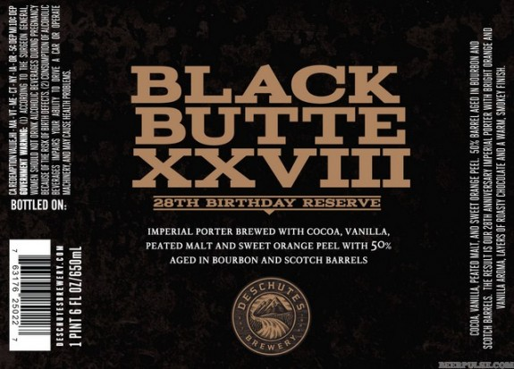 Deschutes Black Butte XXVIII label BeerPulse