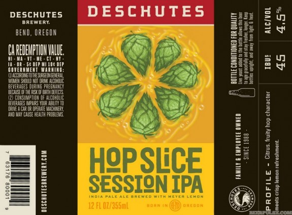 Deschutes Hop Slice Session IPA label BeerPulse