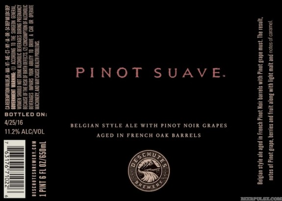 Deschutes Pinot Suave label BeerPulse