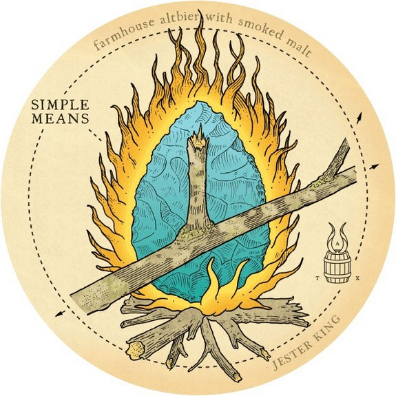 Jester King Simple Means label BeerPulse