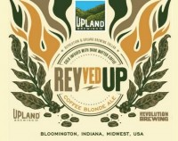 Upland Revved Up Coffee Blonde Ale label
