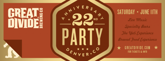 great divide 22nd anniversary banner