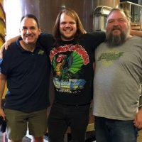 Asheville Brewing Caleb w mike & doug