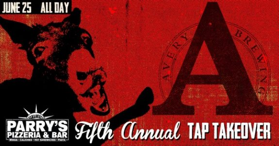 Avery Brewing Fifth Annual Tap Takeover banner BeerPulse