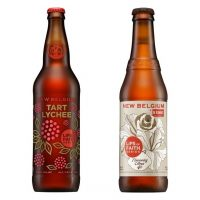 New Belgium Tart Lychee and Flowering Citrus Ale bottles BeerPulse